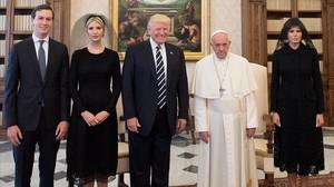 Els mems de la visita de Trump al Papa