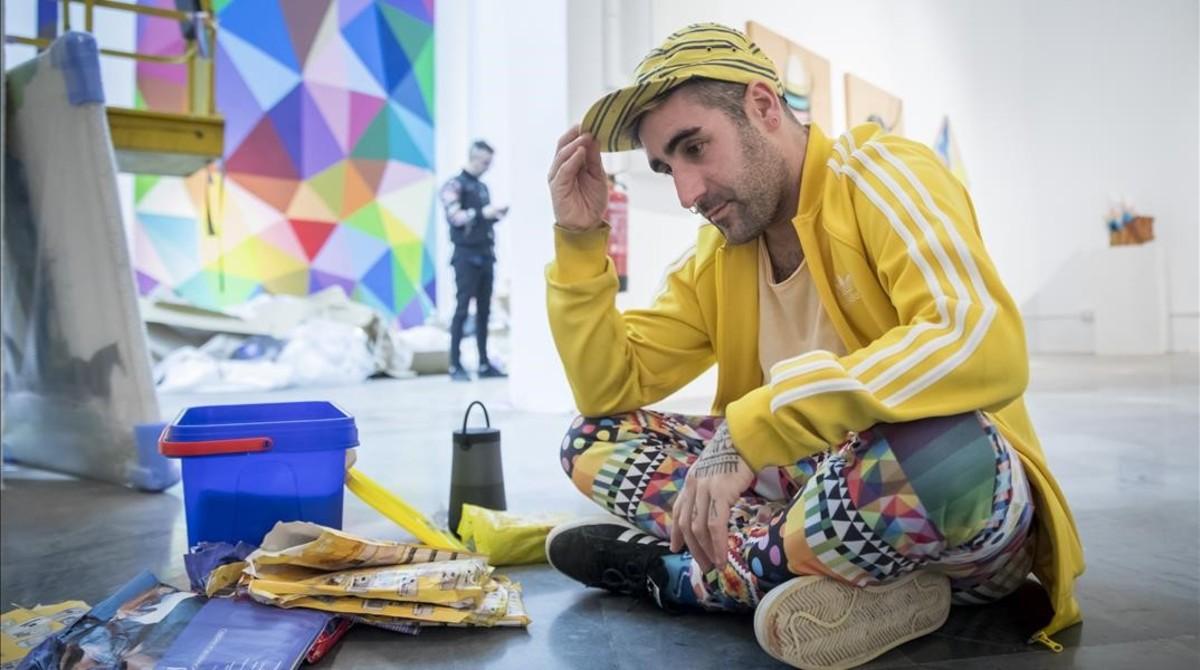Óscar San Miguel, Okuda, en el Centre del Carmen de València.
