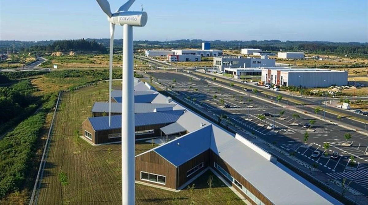 Sede de Norvento en el polígono industrial As Gándaras, en Lugo.