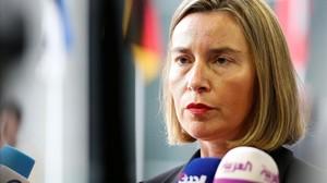 La alta representante de la Union Europeapara Asuntos Exteriores,Federica Mogherini.