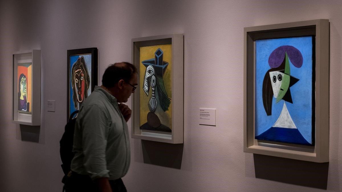El apartado de la muestra dedicado a los retratos que Picasso y Picabia realizaron a lo largo de sus carreras.