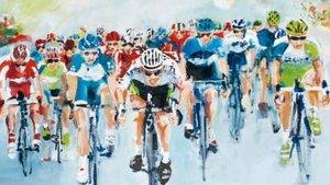 El pelotón de ciclistas en una de las salidas del Tour de Francia.