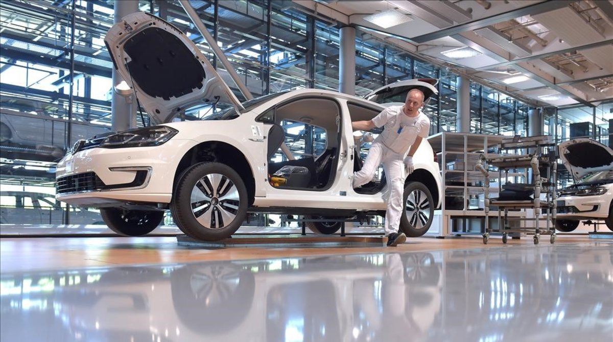 Planta de Volkswagen en Dresde.