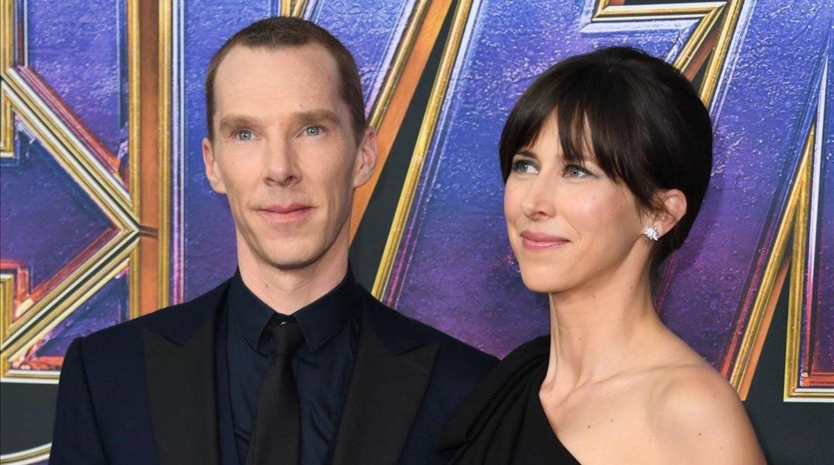 Benedict Cumberbatch y su mujer, la directora teatralSophie Hunter.