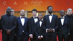 Parte del equipo de Los miserables, en Cannes, este miércoles.