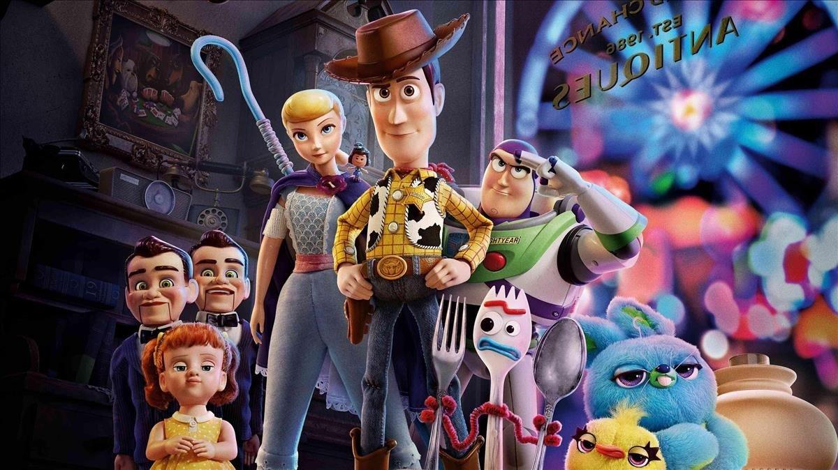 Los personajes animados de 'Toy story 4'.