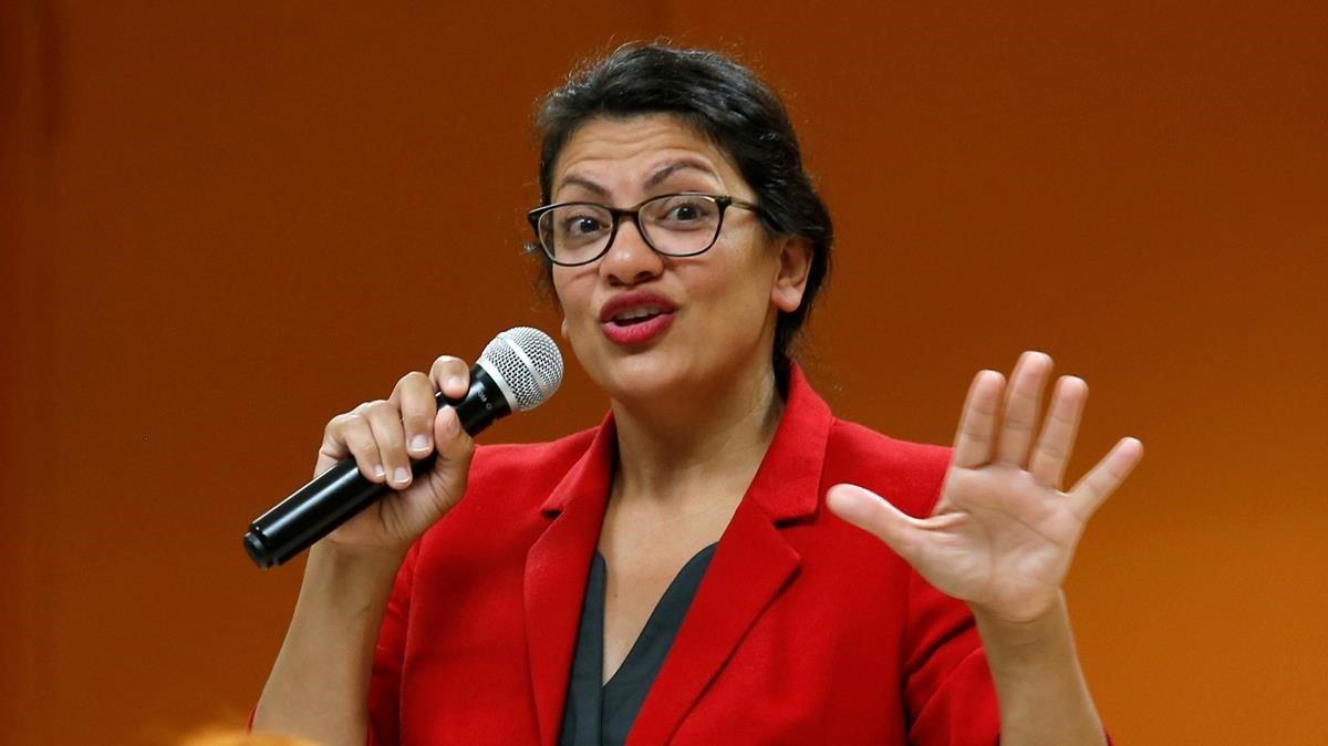 La congresista por Detroit Rashida Tlaib.