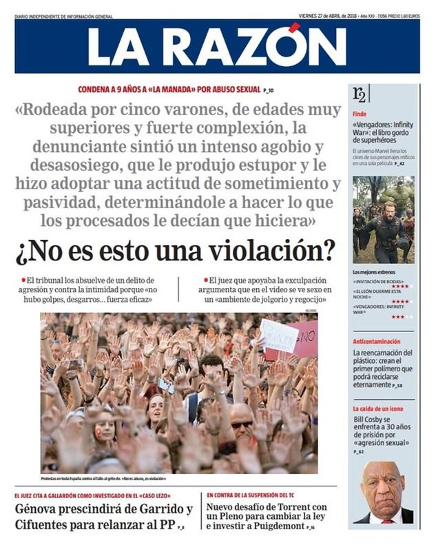Prensa hoy solo medio quiosco se indigna con la for Noticias actuales del espectaculo