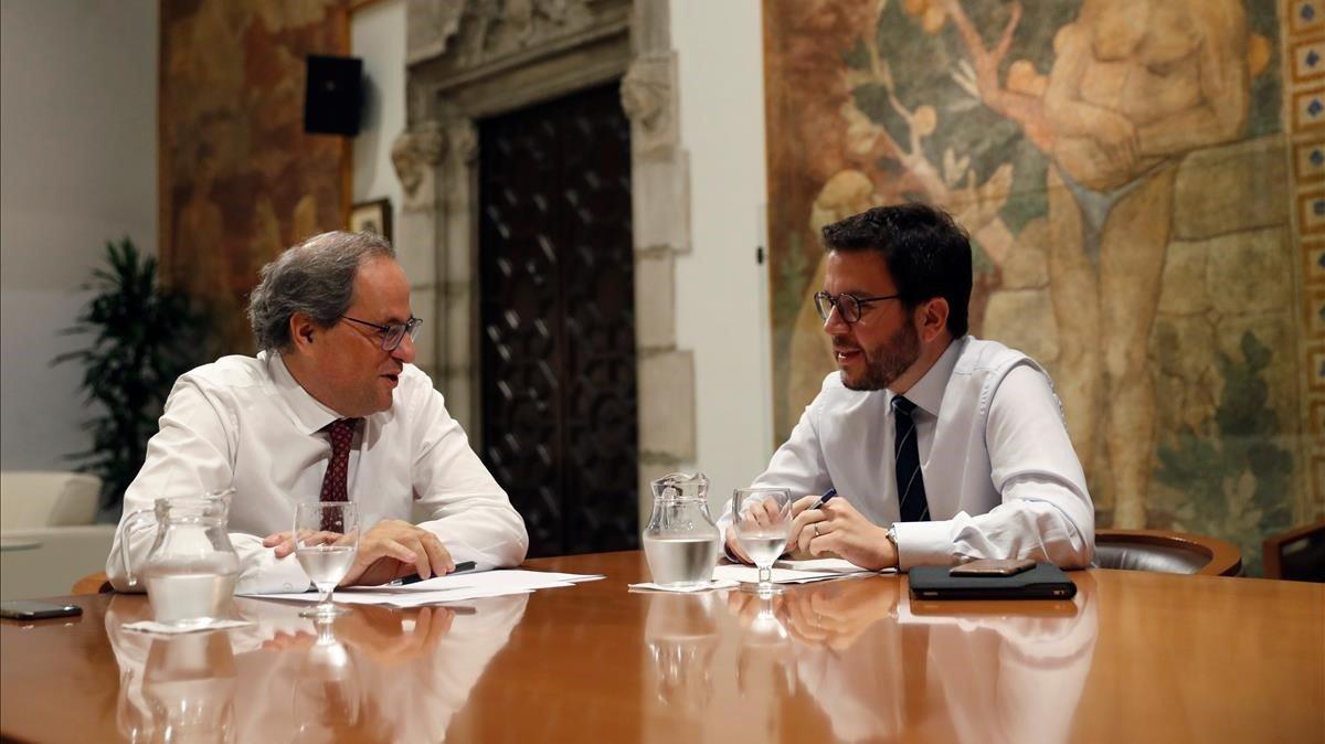 La crisis entre JxCat y ERC por los diputados suspendidos