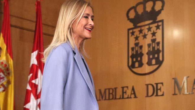 La Audiencia de Madrid suspende el juicio previsto contra Cifuentes.