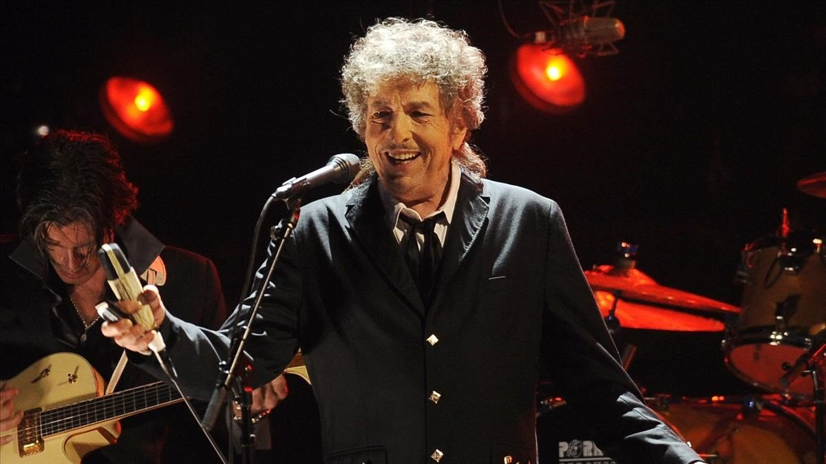 Bob Dylan durante un concierto en Los Ángeles.