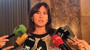 La cabeza de lista de JxCat en el Congreso,Laura Borras.