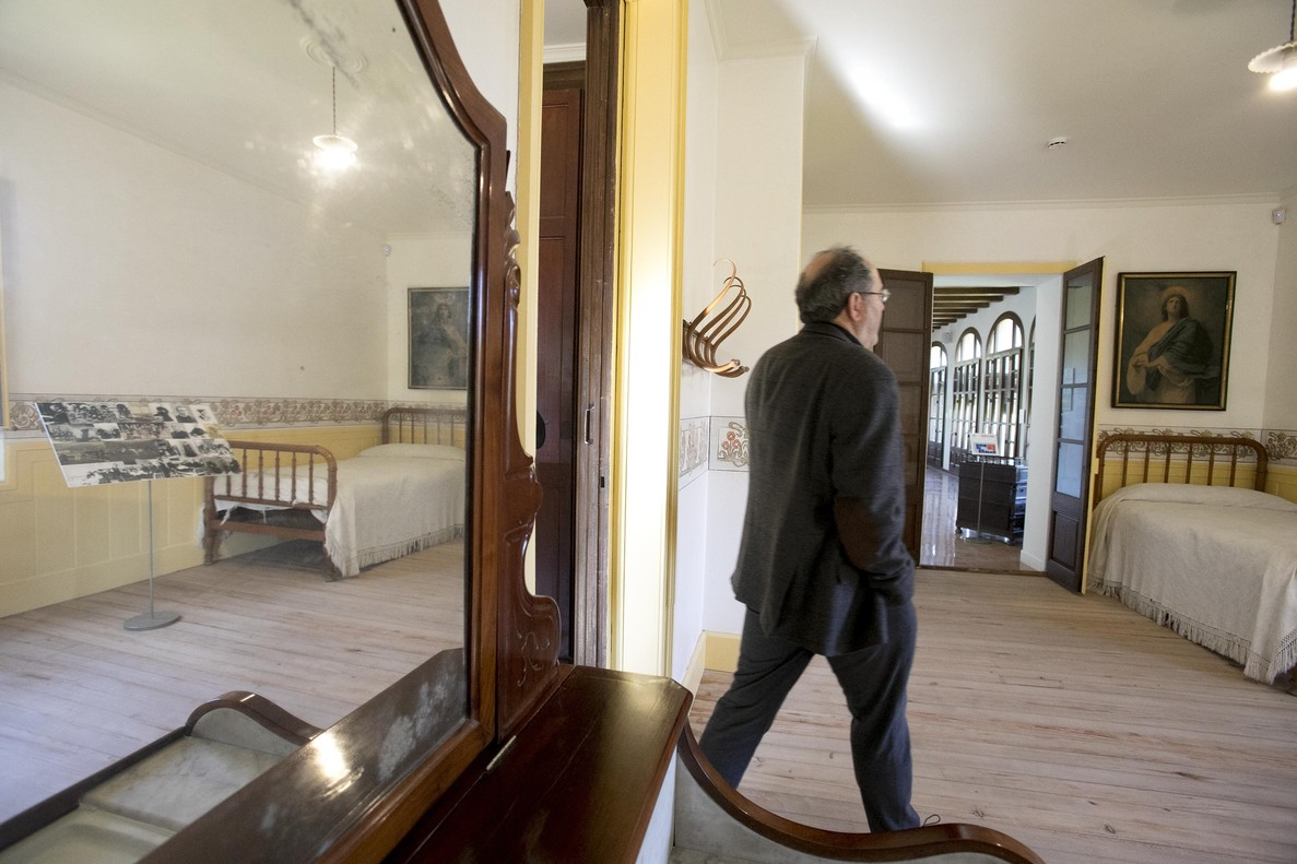 La cama donde murió Jacint Verdaguer, en Vil.la Joana.