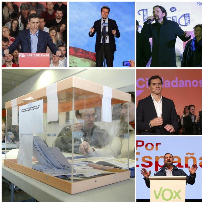 Los candidatos de a presidir el Gobierno de España tras el 28 de abril