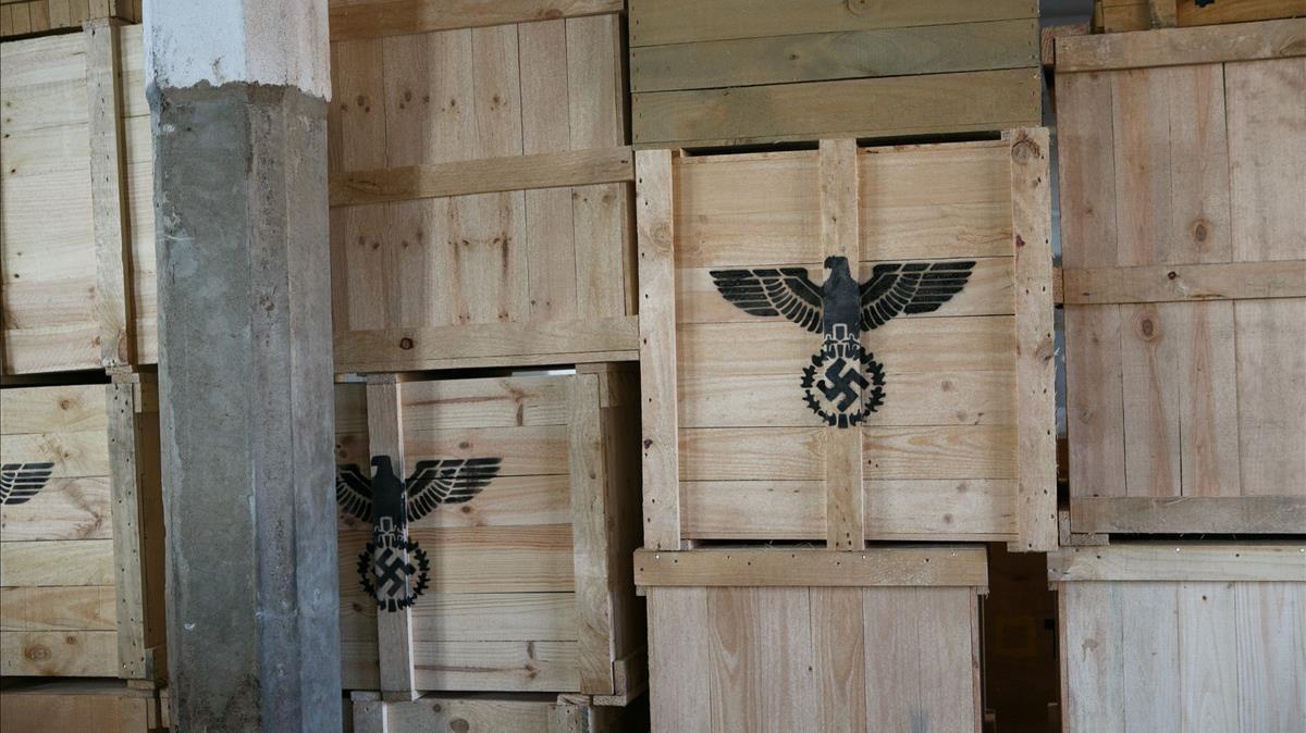 La carpintería del campo reproducida en uno de los escenarios de rodaje de El fotógrafo de Mauthausen.