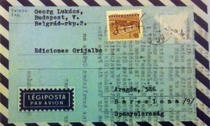 Carta del filósofo Georg Lukács a la editorial Grijalbo.