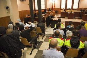 Imagen del juicio a los Casuals, en el 2013.