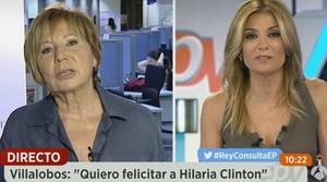 Celia Villalobos, ex presidenta del congreso, en una entrevista para el programa Espejo Público.