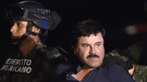 El Chapo Guzmán, detenido en enero en México.