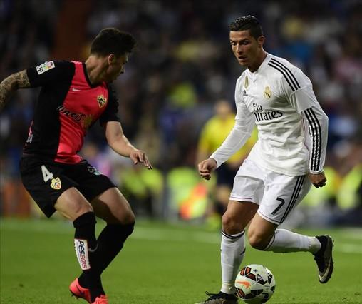 Cristiano Ronaldo, en el último partido del Madrid frente al Almería.