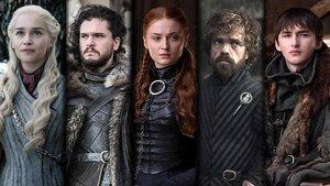 Daenerys Targarien, Jon Snow, Sansa Stark, Tyrion Lannister y Bran Stark