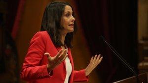 Inés Arrimadas en el Parlament.
