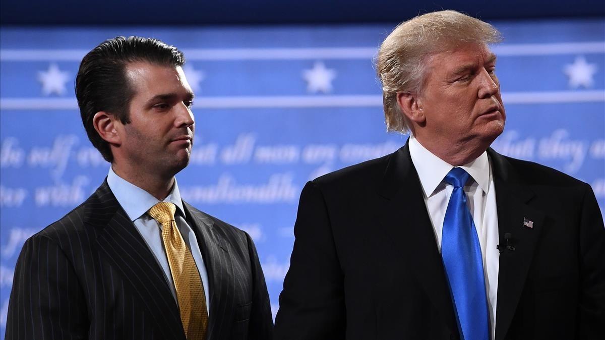 Donald Trump con su yerno Jared Kushner.