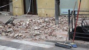 Efectos del terremoto en Melilla en enero del 2016.