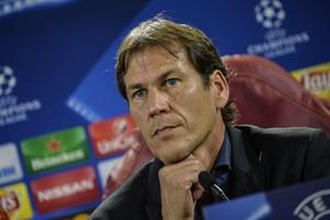 El entrenador de la Roma, Rudi García, este martes, en rueda de prensa.