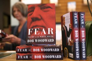 The newly released book  Fear by Bob Woodward is displayed at Book Passage in Corte Madera  California  - Woodward s incendiary  Fear  Trump in the White House  has become the fastest selling book in Simon and Schuster s history  the publisher said on September 18  2018  shifting 1 1 million copies in its first week   Photo by JUSTIN SULLIVAN   GETTY IMAGES NORTH AMERICA   AFP