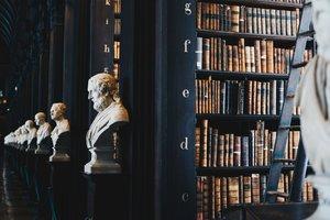 Biblioteca del Trinity College, en Dublín, Irlanda.