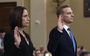 Fiona Hill y David Holmes, diplomático de EEUU en Ucrania.
