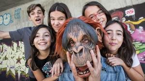 De izquierda a derecha: Manu (guitarra), Carlota (batería), Irene (guitarra),el Mono (bajo), Amaya (teclados)y Mariña (voz).