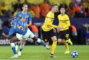 Momento del partido entre el Borussia Dortmund y Atlético de Madrid.