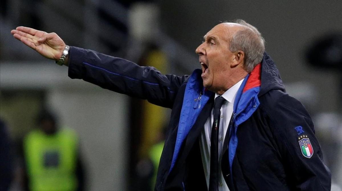 Gian Piero Ventura, en el partido de vuelta contra Suecia.