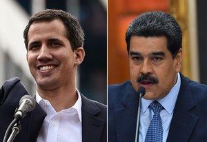 Juan Guaidó y Nicolás Maduro se disputan el poder en Venezuela AFP