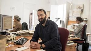 Guillem Perdrix, en la sede de la Federació de Cooperatives de Treball de Catalunya