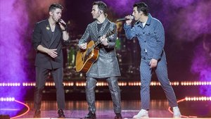 Jonas Brothers, en el Palau Sant Jordi.