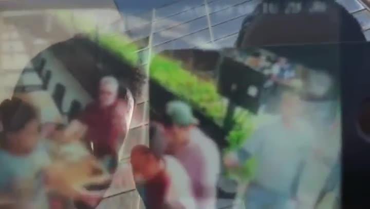 Imágenes de la agresión en el Restaurante La Ciutadella, este sábado