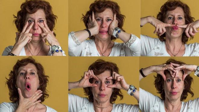 Isabel López, instuctora de yoga facial, enseña en este vídeo cómo practicar dos ejercicios de esta gimnasia 'antiaging'. En el artículo explica otros 10.
