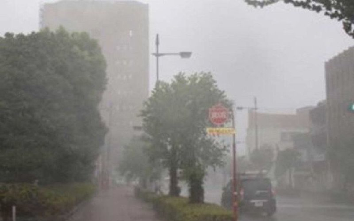 Imagen de los efectos de un tifón en Japón.