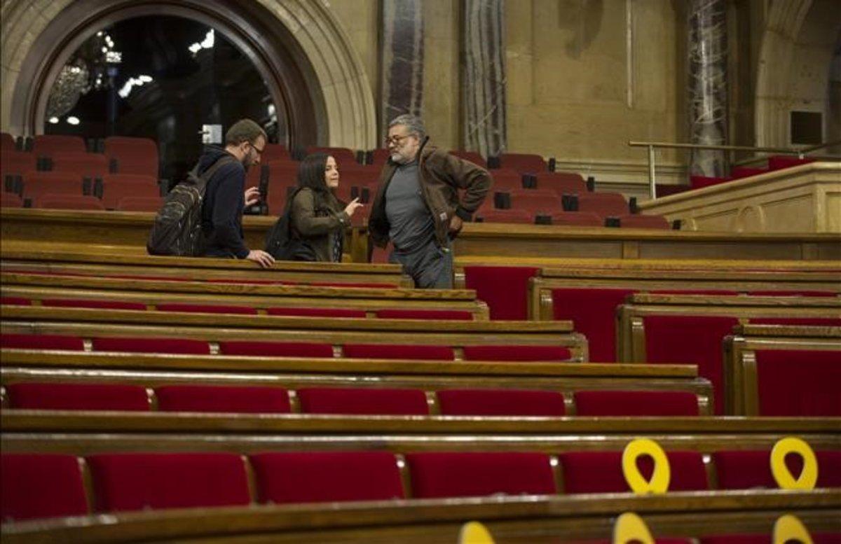 Los diputados de la CUP en el Parlament.