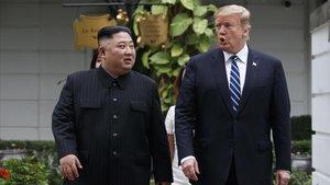 Kim Jong-un y Donald Trump, en febrero del 2019 durante su fallida cumbre en Hanói.