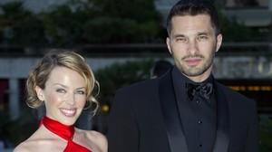 Una imagen de archivo de Kylie Minogue y Olivier Martinez.