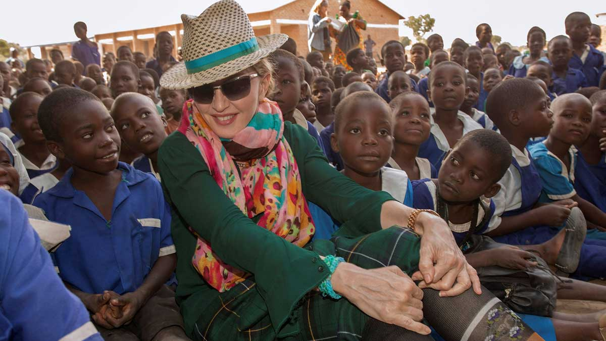 Madonna celebra su 60 cumpleaños con una campaña a favor de los niños en Malaui.