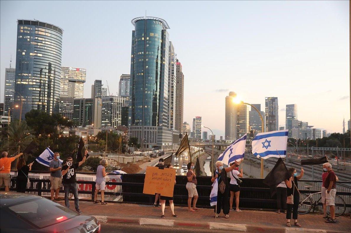 Manifestación contra Netanyahu en Tel-Aviv.