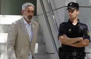 Imanol Arias saliendo de la Audiencia Nacional, el pasado 29 de junio.