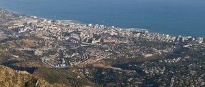 Panorámica de Marbella, en la Costa del Sol, uno de los principales destinos turísticos de Andalucía.