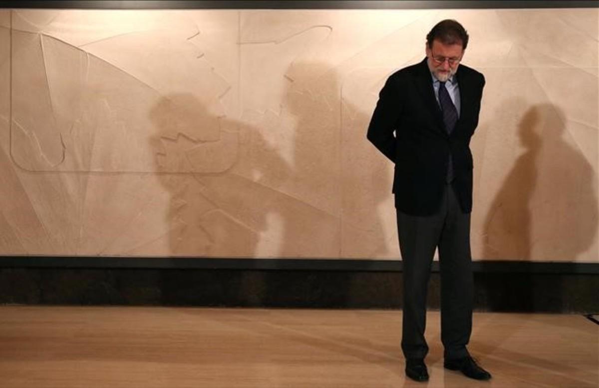 Mariano Rajoy, en la sede de Freixenet el pasado diciembre del 2017.