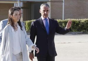 Mario Conde en el momento de la salida de la cárcel el pasado 17 de junio.